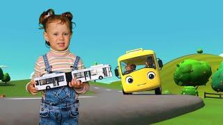 Колёса у автобуса.  Wheels On The Bus. Детские песни. Детские мультики.