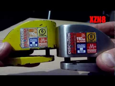 Motorcycle Security - Xena Disc-lock Alarms video