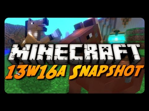 Minecraft Snapshots - 13w16a - Tamable Horses. Wool Carpets & More!