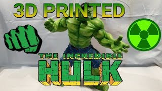 3D Printed 15'' Hulk [Time-Lapse] AirBrush+Jeans | Now ARTFX Statue