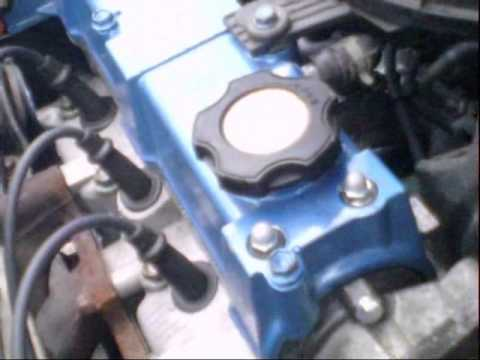 Blue Geo Metro Convertible Engine Rebuild Video