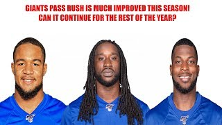 New York Giants- NY Giants pass rush is much improved so far this season! Can it continue?