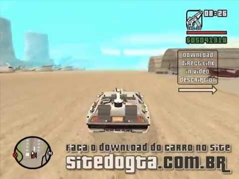 DeLorean DMC-12 do filme De Volta para o Futuro III para GTA San Andreas