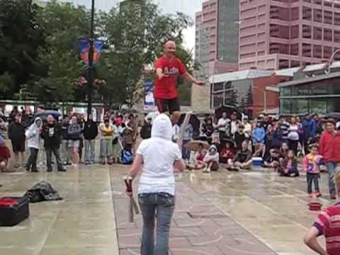 Mr. Spin Unicycle Act - Edmonton Street Performers Festival