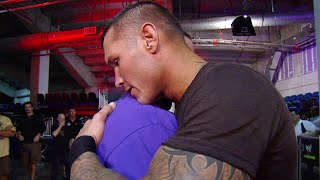 John Cena and Randy Orton share a hug backstage: Raw, November 22, 2010