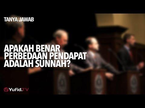 Tanya Jawab: Apakah Benar Perbedaan Pendapat Adalah Sunnah? - Ustadz Abdullah Taslim, MA.