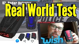 Radar Detector from Wish.com REAL LIFE TEST Review