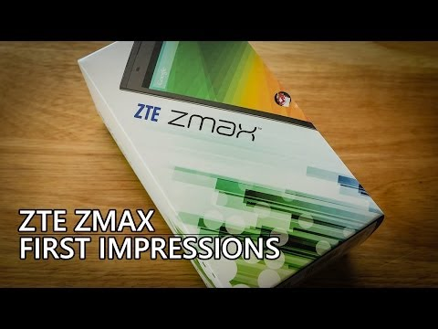 ZTE ZMax Hands On and First Impressions