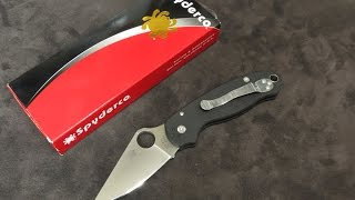 Spyderco Para 3:  Just What We Expected... A Very Good Thing!