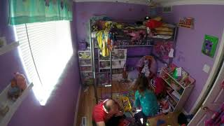 Cleaning Kids Rooms time lapse