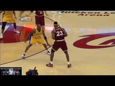 Blocks Highlights start at 12:56 LeBron James's jumpshots, jab steps, fade aways, post moves, jump hooks, step back jumpers, dunks, crossovers, passing, bloc...