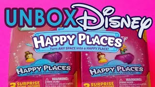 DISNEY HAPPY PLACES Surprise Unboxing Toys Home Decor | dreamport with joe and amy