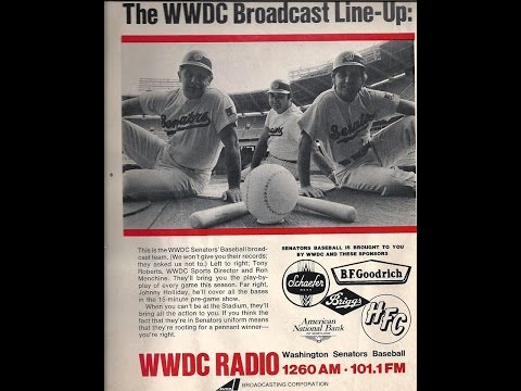 Cleveland Indians vs Washington Senators WWDC RADIO  1970  partial game Shelby Whitfield  Ron Menchi