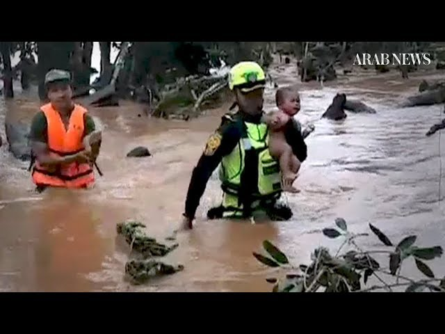 Laos dam collapse: Toddler rescued