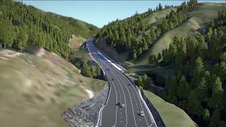 Transmission Gully motorway fly-through