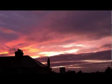 Awesome Evil Red Sunset, (Nibiru is near). Woodgreen, London, UK Weather share (Feb.16th.2012)