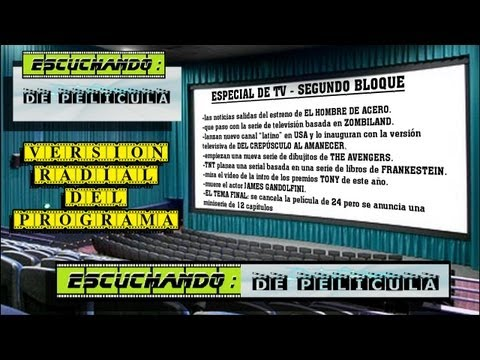 Escuchando: DE PELÍCULA - especial TV-  2do BLOQUE - Avengers / Frankestein / 24 / James Gandolfini