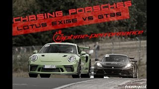 LOTUS Exige vs. Porsche GT3 GT4 991 GT3 RS / Laptime-Performance / Nordschleife