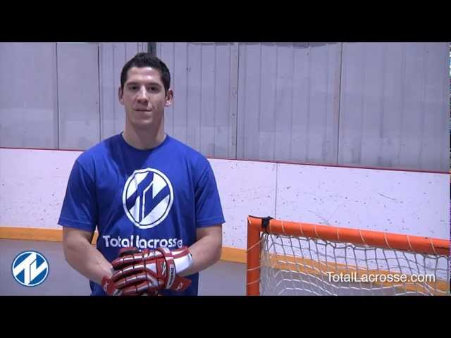 Shooting on indoor lacrosse goals with Jordan Hall