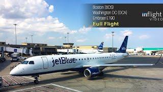 jetBlue Full Flight: Boston to Washington DC - Embraer E190