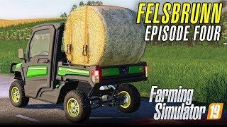 BALING ON FELSBRUNN | Let's Play Farming Simulator 19 | Episode 4