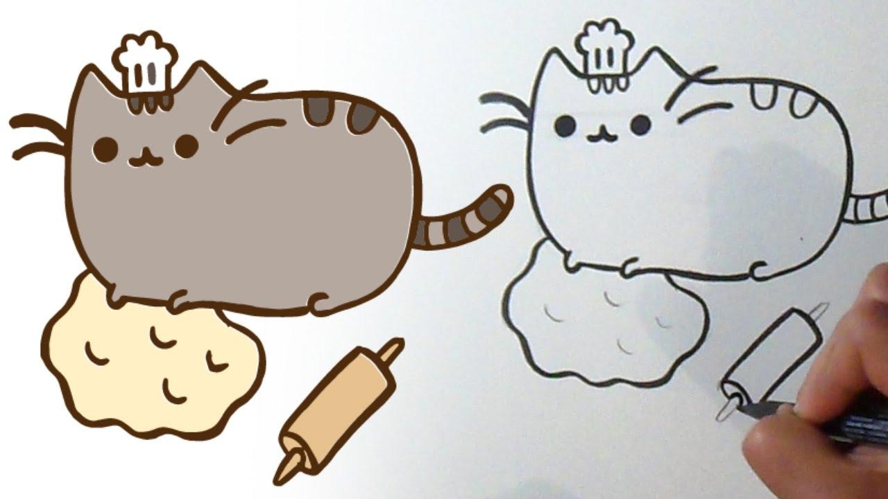фото пушина кота нарисовать карандашом