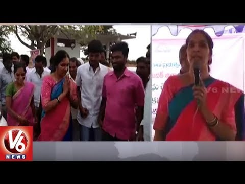 Dy Speaker Padma Devender Reddy Distributes Cheques And Passbooks In Chandapur | V6 News