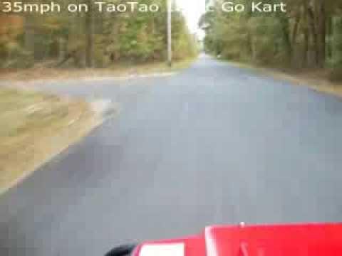 TAOTAO 125CC GO KART SPEEDING AT 35MPH