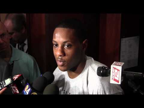 Mario Chalmers talks about the Miami Heat's Game 3 loss