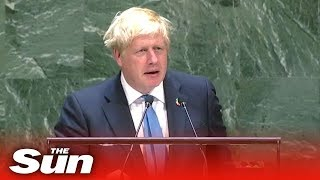 Video: In UN Speech, Boris Johnson embraces Digital Age, Smart Cities, Internet of Things/5G, Medical Nanotechnology, Vaccines, and Artificial Intelligence