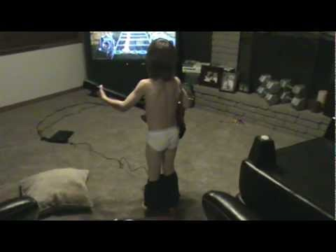 Underwear Guitar Hero Boy