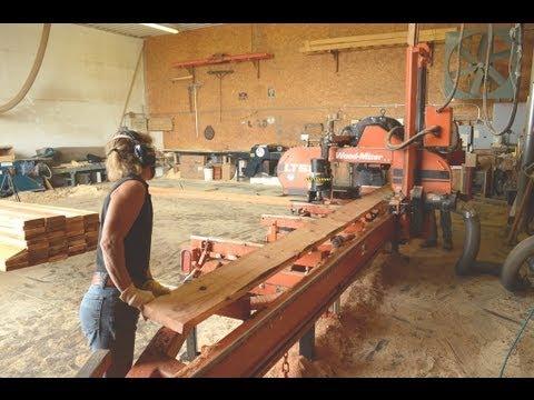 Milling Western Red Cedar Lap Siding On Wood Mizer Lt50