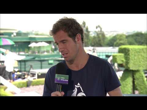 Richard Gasquet visits the Live @ Wimbledon studio