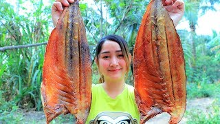 Yummy Salty Dried Fish Cooking Porridge - Porridge Cooking Dried Fish - Cooking With Sros