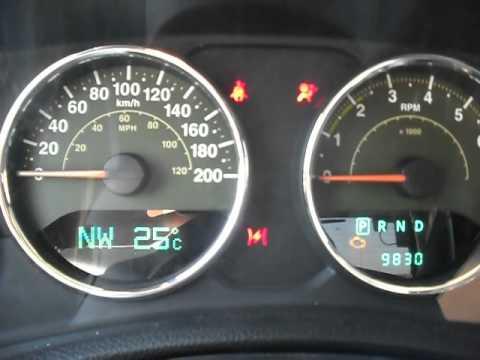 Resetting oil change light/message 2008-2012 Jeep Wrangler