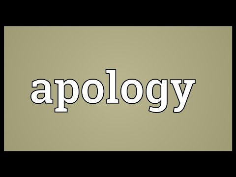 Apology Meaning