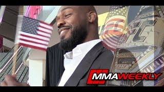 How is Jon Jones Celebrating the 4th of July?  (UFC 239 Media Day)