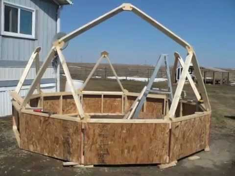 DIY Building a Geodesic Dome Greenhouse Homemade