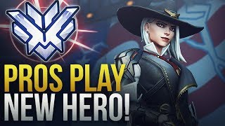PROS PLAY NEW HERO ASHE - Overwatch Montage