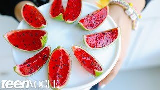 How to Make Mini Jell-O Watermelon | Sweet Tooth | Teen Vogue