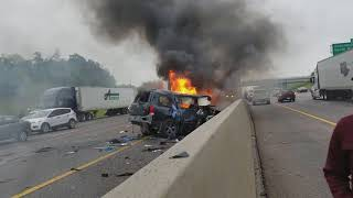 Accident on 20 freeway  Duncanville tx