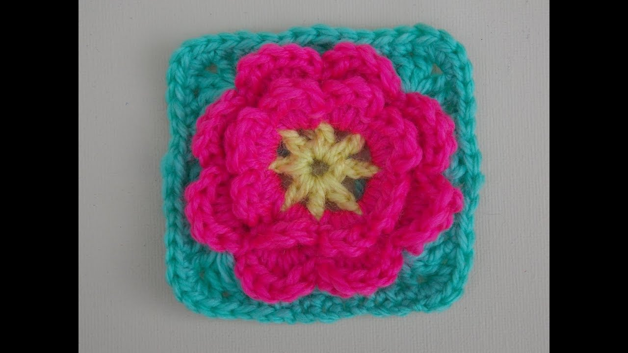 Square Crochet Tutorial Flower Can Be Made Seperately YouTube