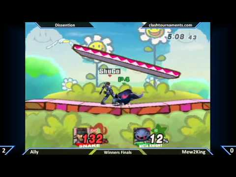 SSBB - Mew2King vs Ally - Winners Finals - Dissention