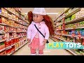 Play Baby Doll Supermarket Grocery Shopping Toys! American Girl, Og Dolls Silly