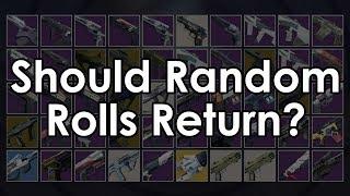 Destiny 2: Do We Need MORE Guns? Should Random Rolls Return?
