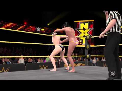 WWE 2K16_Paige vs Bayley_NXT Women's Championship Bikini match