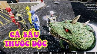 GTA 5 - Biệt đội siêu nhân và Cá Sấu độc   GHTG