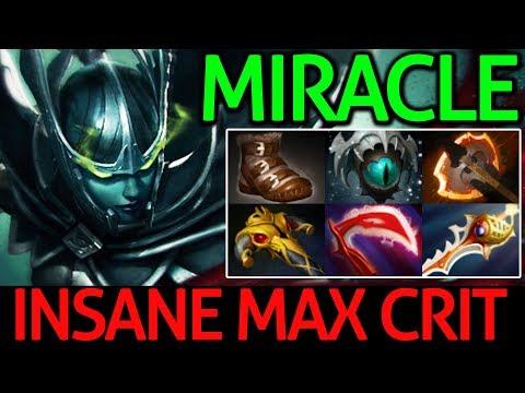 Miracle- Dota 2 [Phantom Assassin] Insane Max Crit - Carry Game