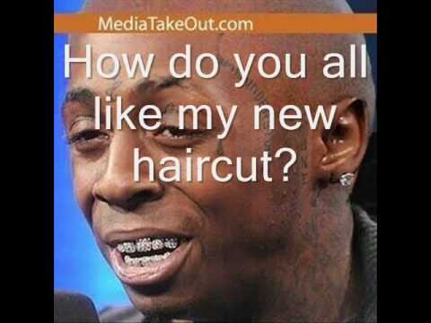 LIL WAYNE HAS A HAIR CUT 2010 FEB. LIL WEZZY F. BABY. HAS HARD TIMES IN JAIL. THE BLUES SO HE CALLS HIS DADDY. HOODCARTOONIEZ BALDHEADED LIL .