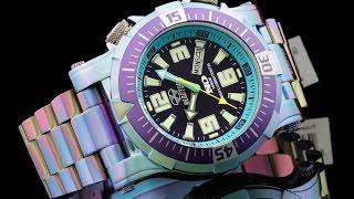 Reactor 55999 Poseidon 1000 M WR Ionized Finish Bracelet Watch w Never Dark Illumination